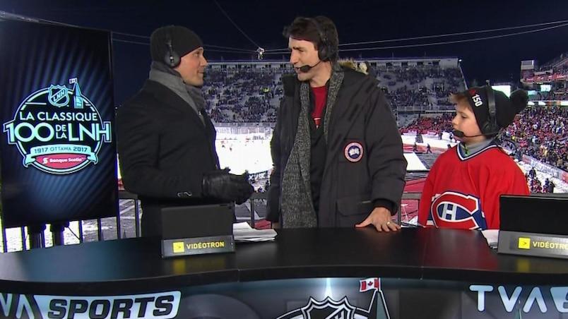 Justin Trudeau aimerait voir plus d'équipes canadiennes dans la LNH
