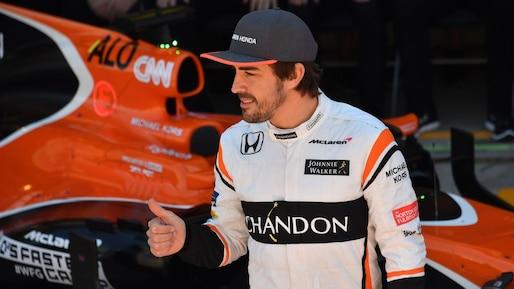 Fernando Alonso en piste pour les 24 Heures du Mans