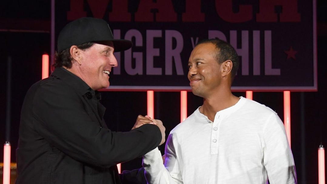 Phil Mickelson et Tiger Woods