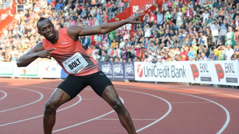 Usain Bolt visera un triplé