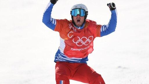 Olympiques: le Français Pierre Vaultier fait le doublé en snowboard cross