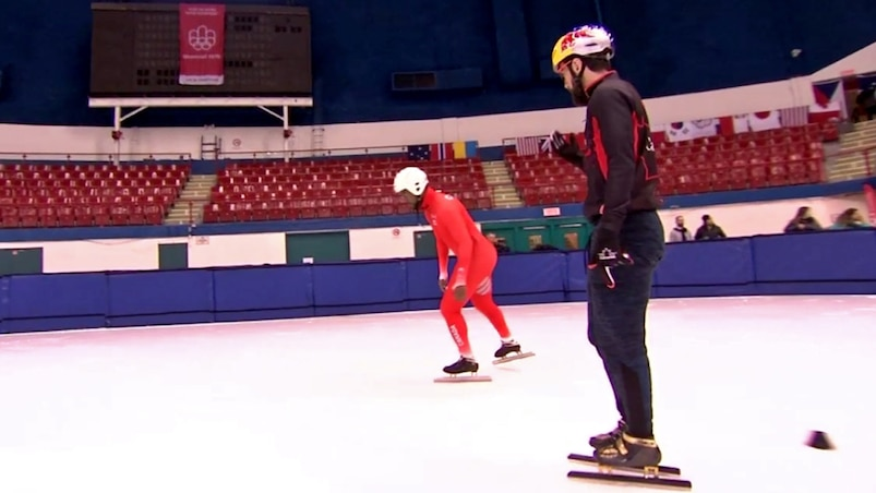 Pas facile, le patinage de vitesse courte piste!
