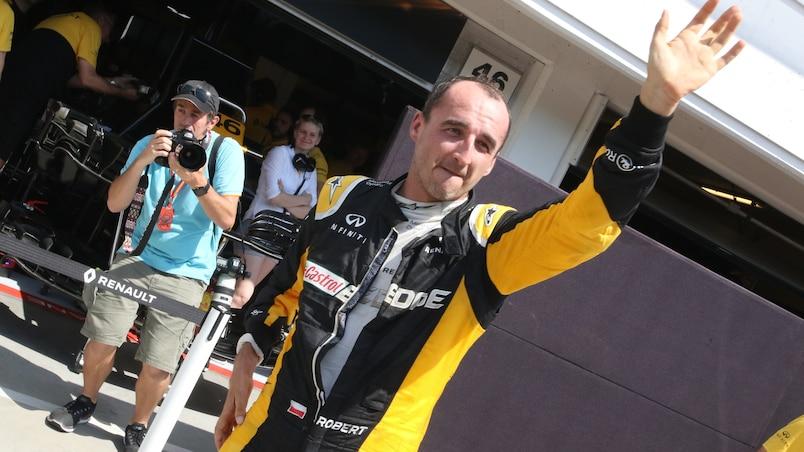Robert Kubica à l'essai chez Williams