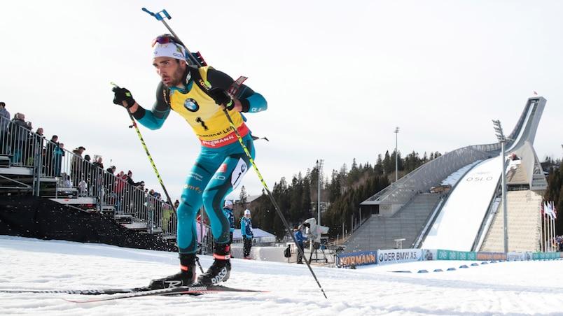 Biathlon: Martin Fourcade termine la saison sur une 14e victoire, record absolu égalé