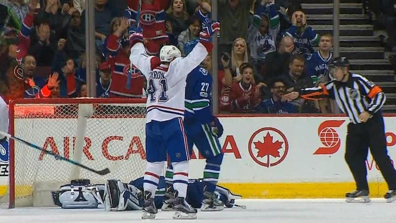 Les Canadiens triomphent des Canucks en prolongation grâce à Paul Byron
