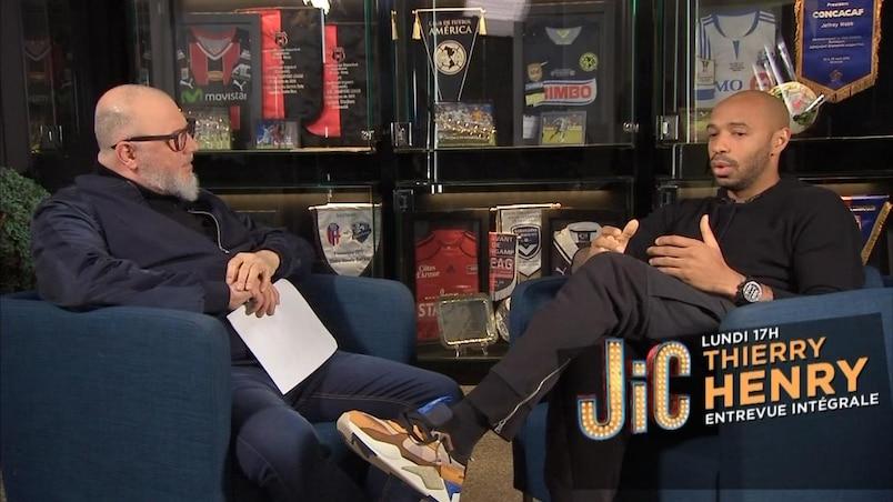 Thierry Henry à «JiC», lundi soir!
