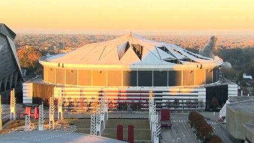Le Georgia Dome détruit par 5000 livres d'explosifs
