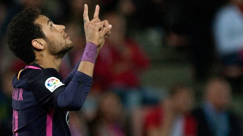 100e but de Neymar sous le maillot du Barça