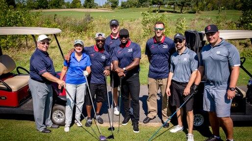 Séance de golf pour les Alouettes