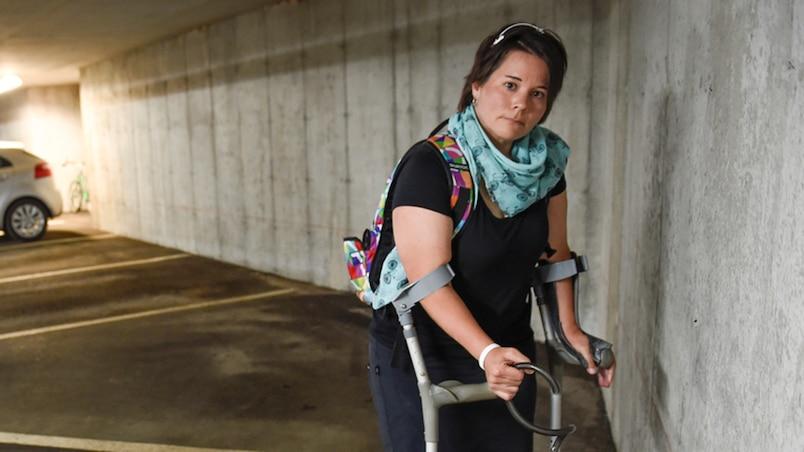 Marie-Eve Croteau,une athl�te para olympique se fait voler ses v�los de competitions