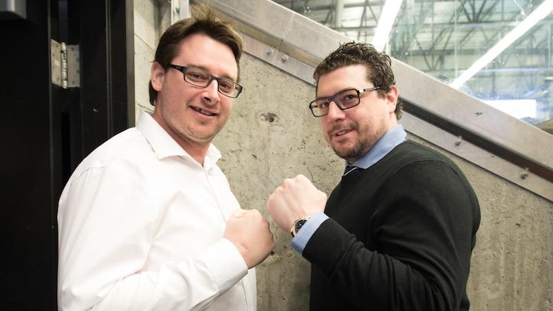 Louis Robitaille (à droite)