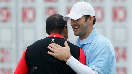 Tiger Woods et Tony Romo