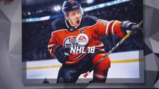 Connor McDavid sur la couverture du jeu «NHL 18»