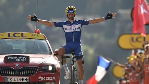 Tour de France: Alaphilippe signe le 1er succès français