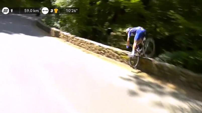 Une violente chute au Tour de France!