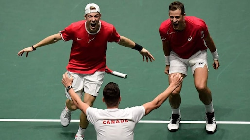 Coupe Davis: le Canada «pourrait aller jusqu'au bout»