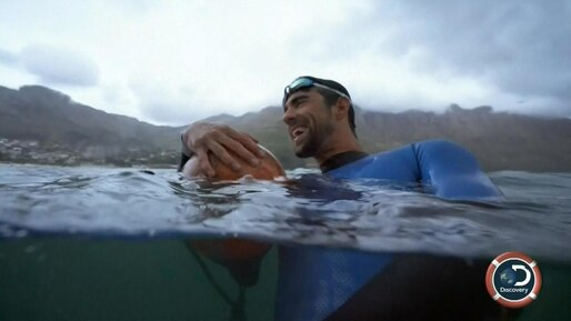 Michael Phelps contre le grand requin blanc
