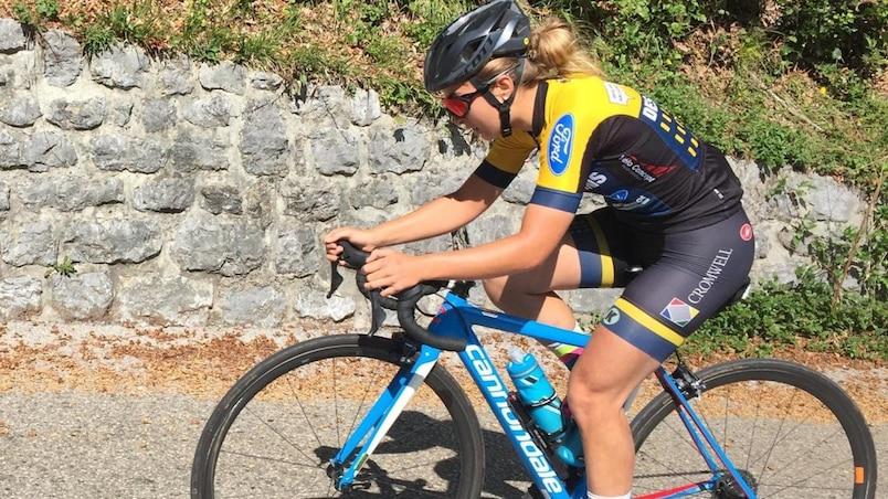 La cycliste Simone Boilard en bronze