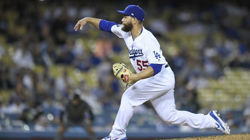 Russell Martin au monticule pour les Dodgers!