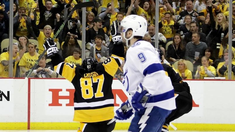 Sidney Crosby a marqué le but gagnant lundi.
