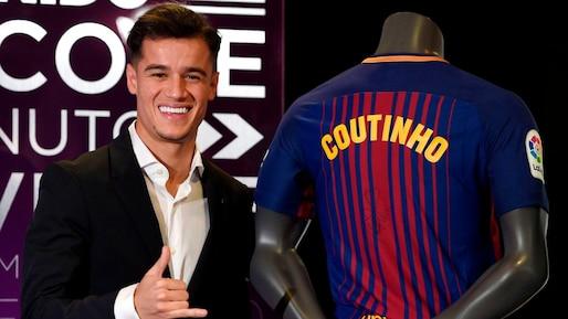 Philippe Coutinho signe en grande pompe au FC Barcelone