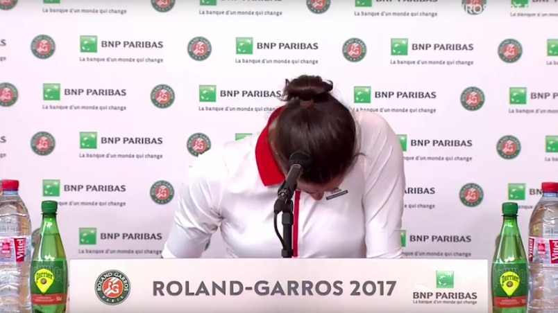 Garbine Muguruza craque après sa défaite contre Kristina Mladenovic