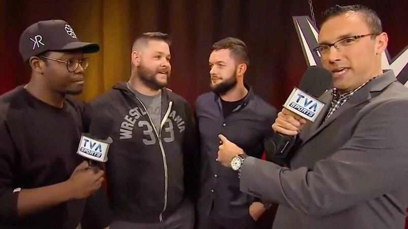 Kevin rencontre des lutteurs de la WWE
