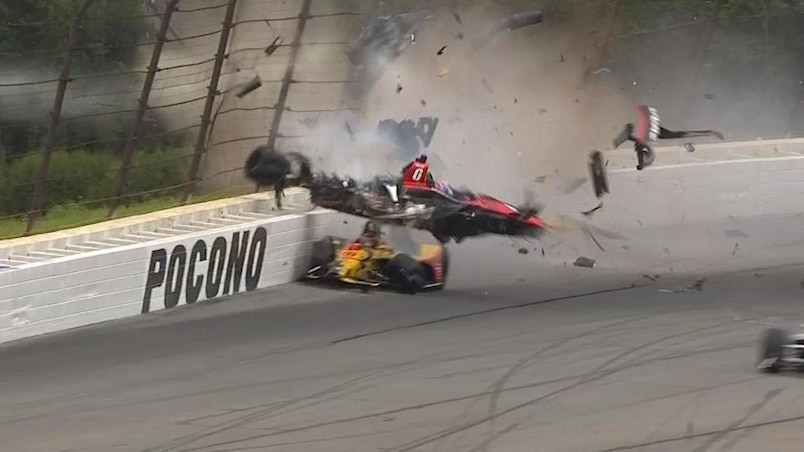 IndyCar : Robert Wickens impliqué dans un accident violent