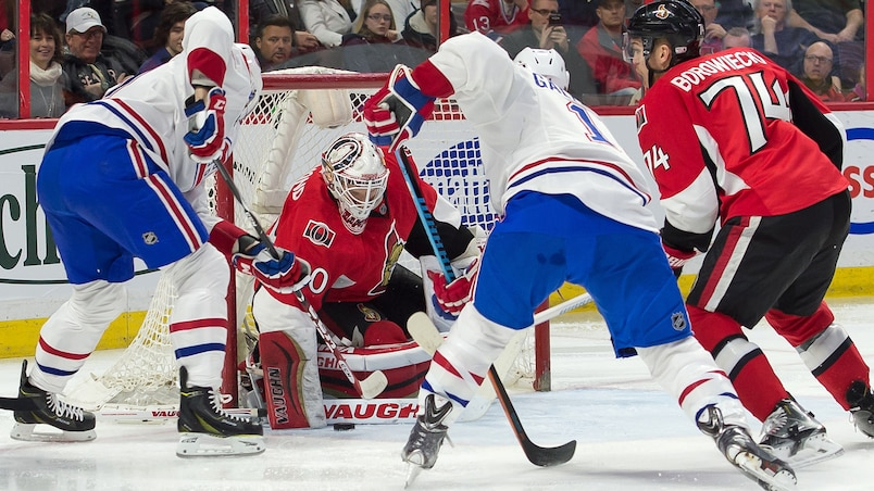 NHL: Montreal Canadiens at Ottawa Senators