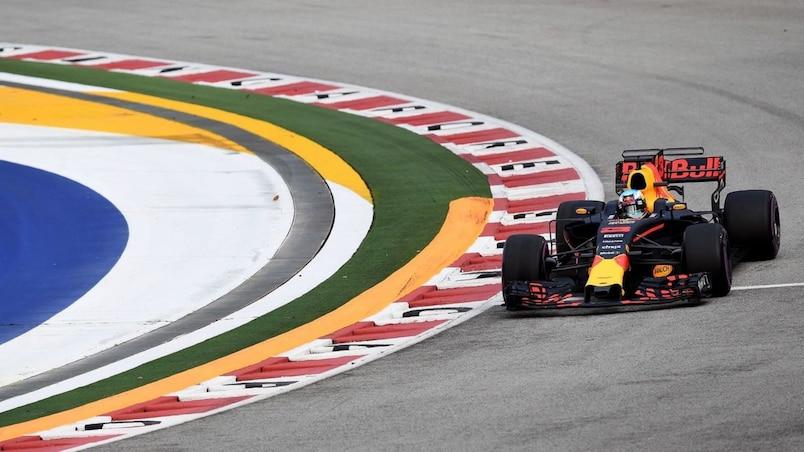 F1: Daniel Ricciardo le plus rapide à Singapour, Lance Stroll en difficulté
