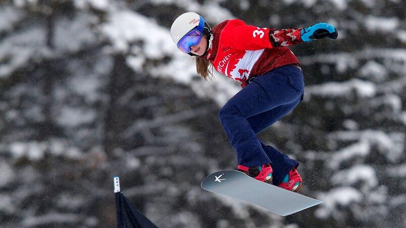 Les Canadiennes médaillées d'argent en snowboard cross