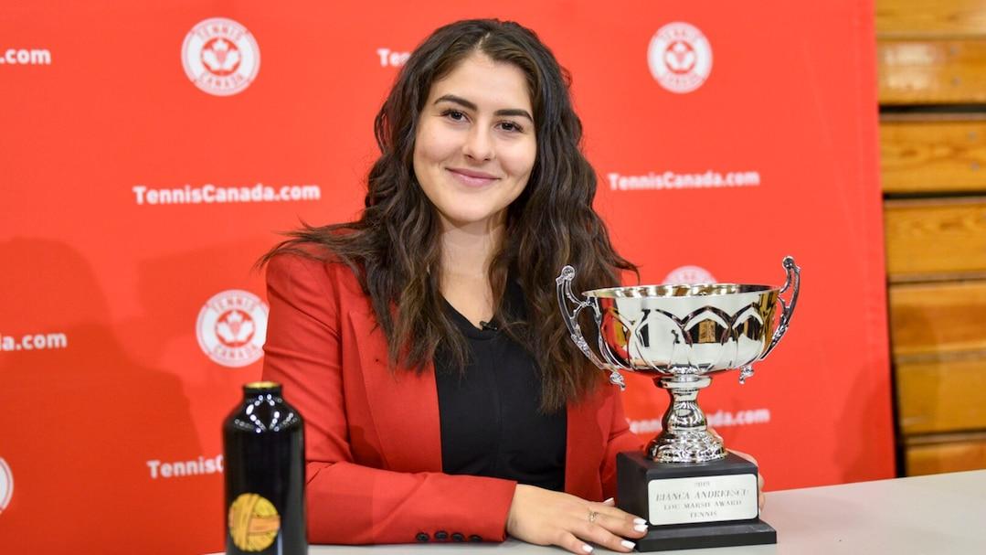 Tennis Canada Press Conference: Lou-Marsh Trophy winner, Bianca Andreescu