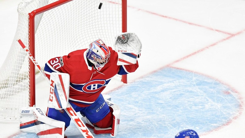 Les Canadiens s'inclinent devant les Bruins à Québec