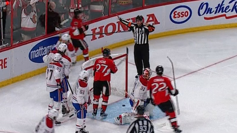 Sifflet rapide... en faveur des Canadiens