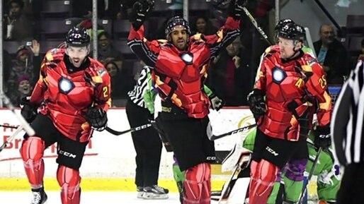 #Jure-Lé: Iron Man contre Hulk dans la ECHL!