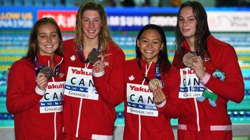 FINA: le bronze pour Penny Oleksiak et ses coéquipières