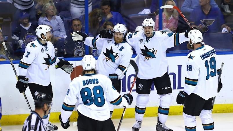 Les Sharks, tout près de la finale de la Coupe Stanley