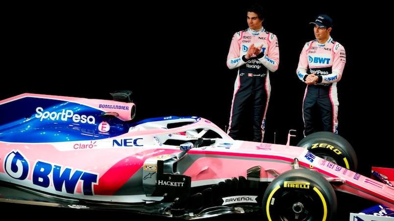 Lance Stroll et Sergio Perez