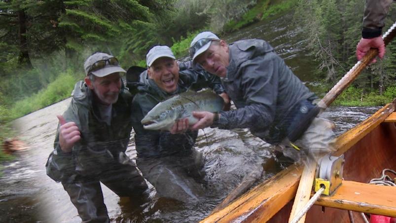 Expédition Faune : pêche au saumon sur la rivière Patapédia