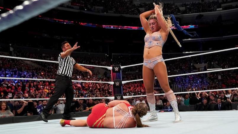 Cette semaine dans l'univers de la WWE : Charlotte c. Becky c. Ronda à WrestleMania?