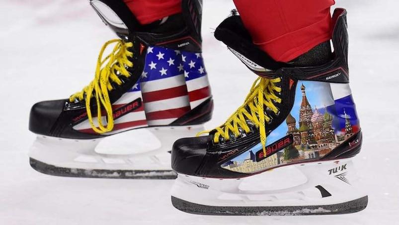 Avez-vous vu les patins d'Ovechkin?