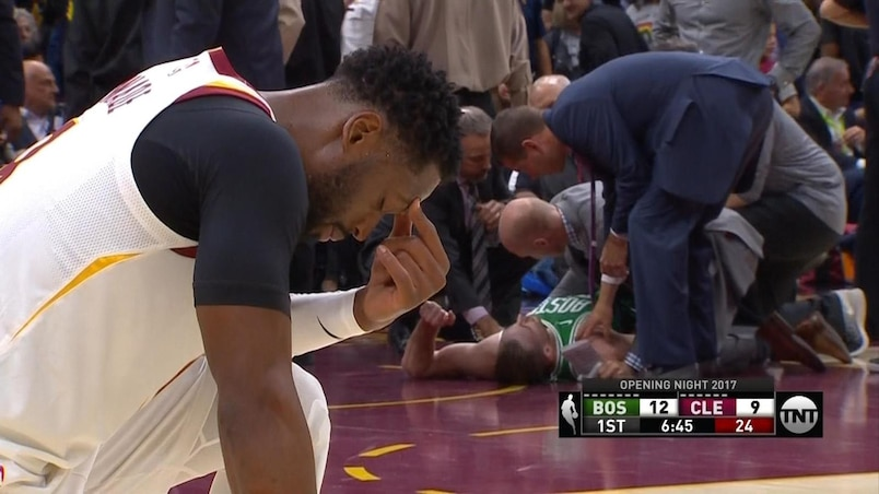 Un joueur des Celtics subit une blessure épouvantable