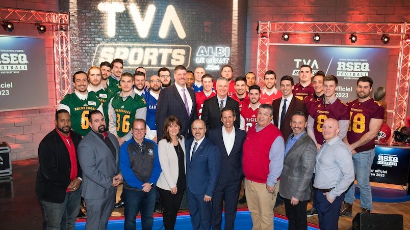 Le RSEQ célèbre à TVA Sports
