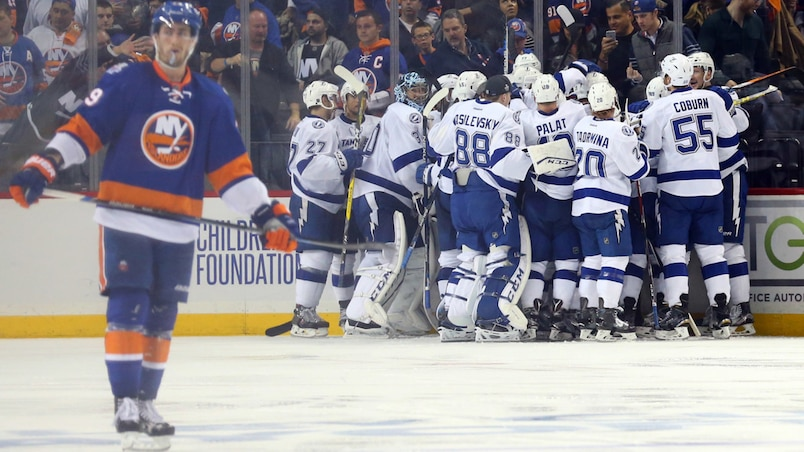 NHL: Stanley Cup Playoffs-Tampa Bay Lightning at New York Islanders