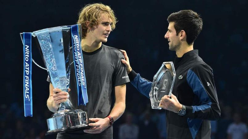 ATP: Alexander Zverev dans le top 4, Novak Djokovic termine no.1