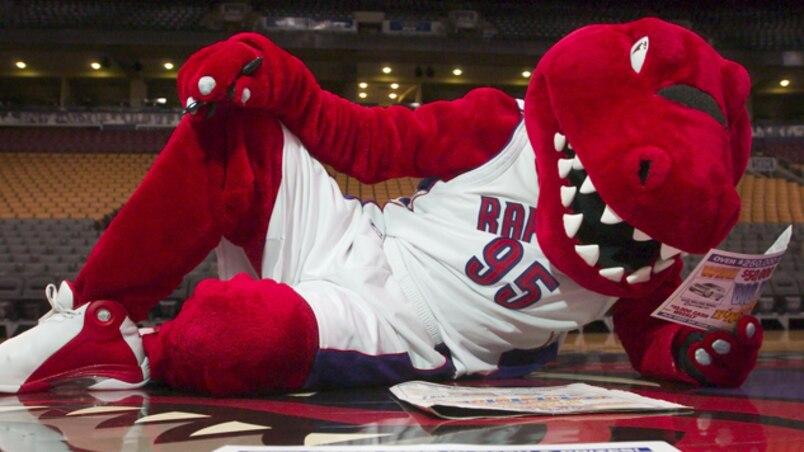 La mascotte des Raptors est blessée!