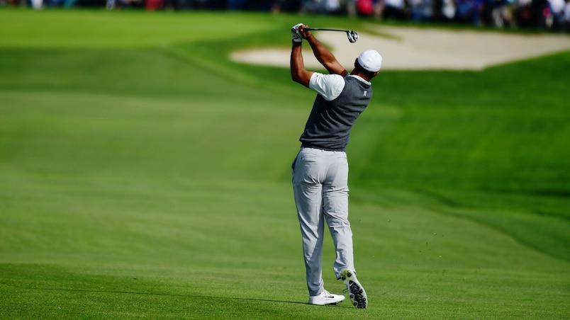 Tiger Woods dans le peloton à San Diego