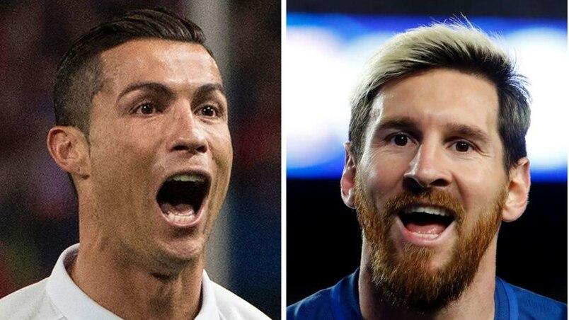 Un graffiti de Messi et Ronaldo s'embrassant fait fureur avant le Clasico