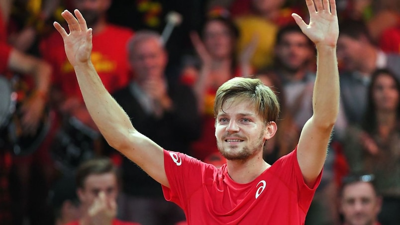 Coupe Davis: David Goffin donne l'avantage à la Belgique