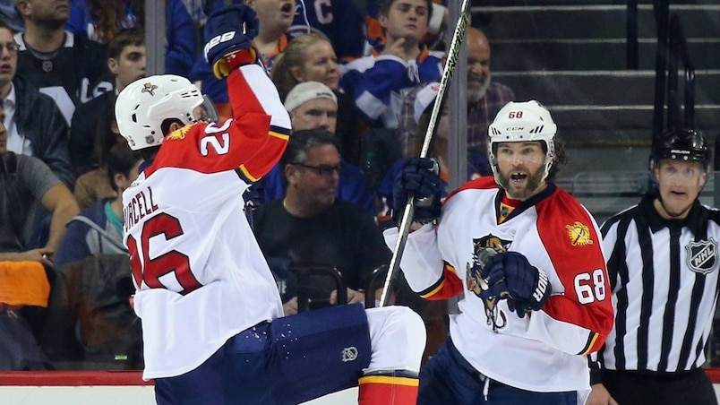 Teddy Purcell et Jaromir Jagr